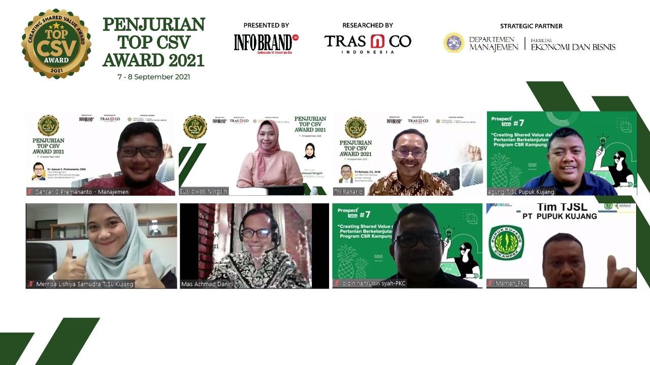 Gagas Kampung NanasKu Sebagai Program CSV, PT. Pupuk Kujang Join Penjurian Top CSV Awrad 2021