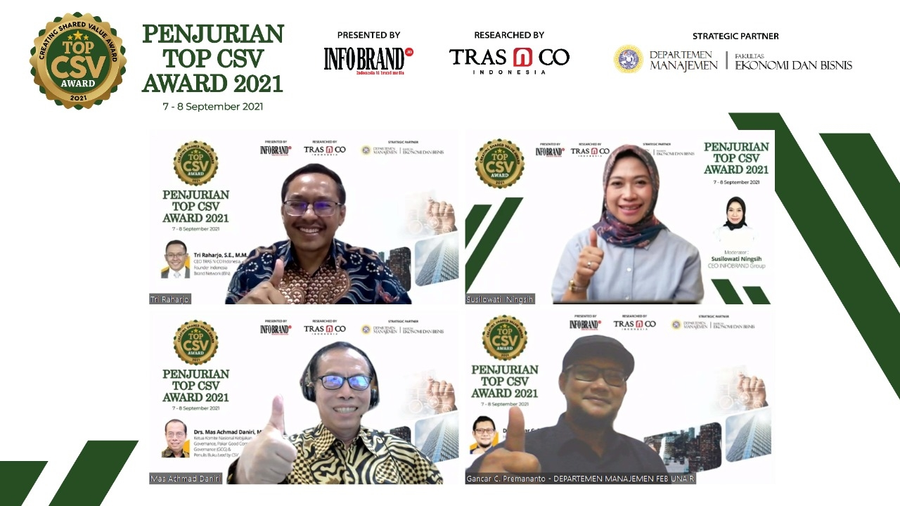 Top CSV Award 2021 ungkap Aksi CSR Berkelanjutan Perusahaan untuk Masyarakat