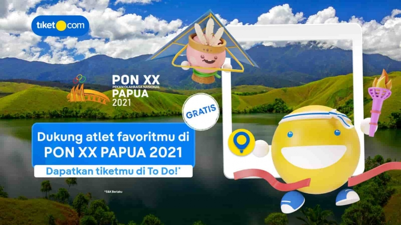 Mitra Resmi Online Tiket Partner PON XX Papua, Tiket.com Bagi Banyak Diskon!