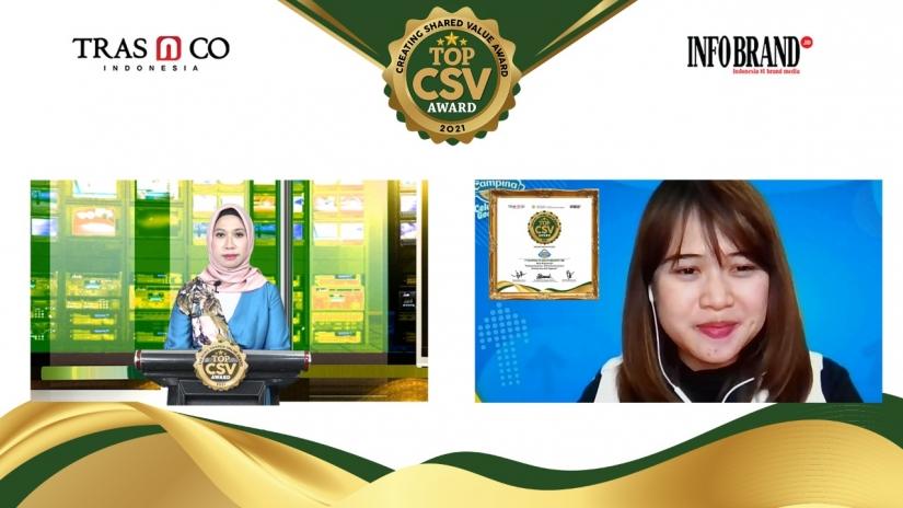 Jaga Imun Masyarakat Lewat Program CSV, PT Campina Ice Cream Industry Sabet TOP CSV Award 2021